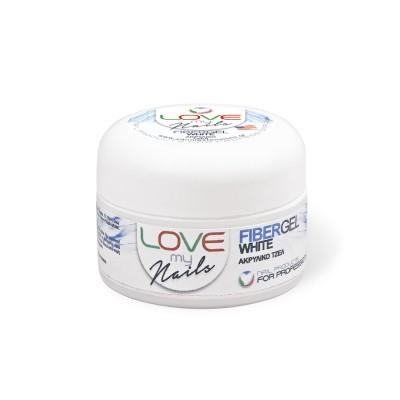 Love my Nails Fiber Gel White – Λευκό – 15gr